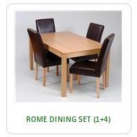 ROME DINING SET (1+4)